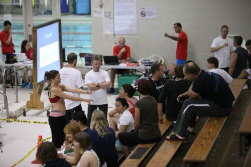 Start of the Canadian National Freediving Competition 2011